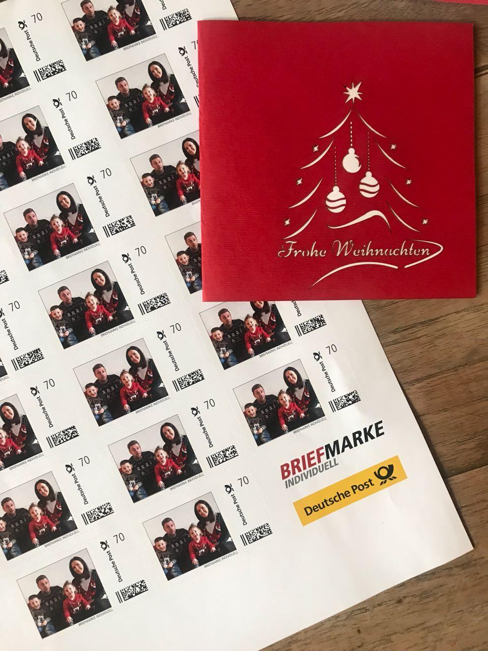 Individuell Gestaltete Briefmarken Für Weihnachtskarten Diekim
